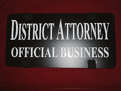 DISTRICT ATTORNEY Official Business car visor identifier.