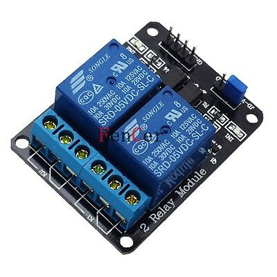 DC5V 2-Relay Driver Module Relay Expansion board with optocoupler protection