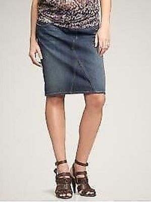 MATERNITY DENIM SKIRT SZ 10 s