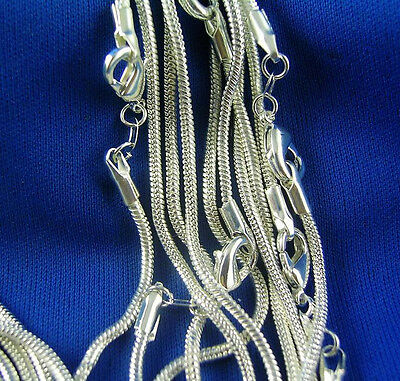 Wholesale 5pcs 925 Sterling Silver 1.2mm Snake Chain Necklace 16-30 inches