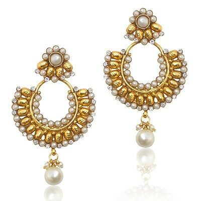 Beautiful Ethnic Indian Earrings With Pearl Stones And Pearls Ha99 Fashion Edh