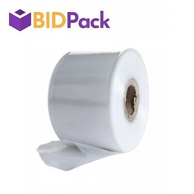 Clear Rolls of Polythene Plastic Layflat Tubing - Various Sizes and Quantities