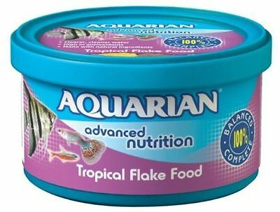Genuine Aquarian Tropical Fish Flake Food 25G Fish Tank Aquarium Flakes