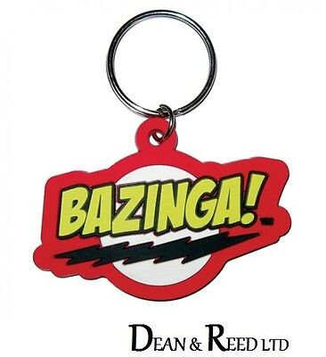 *NEW* The Big Bang Theory (Bazinga) RUBBER KEYRING / KEYCHAIN BY PYRAMID
