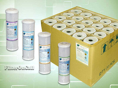 """20 standard 10"""" Carbon Filter NSF-Certified 0.5, 1, 5, 10 micron Reverse Osmosis"""