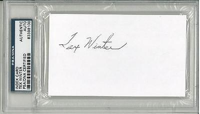 Tex Winter Signed Authentic Autographed 3x5 Index Card Slabbed PSA/DNA #83398100