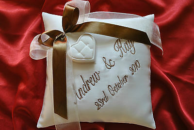 PERSONALISED wedding ring cushion/pillow 59 colours!!! Any LANGUAGE/ 20cm x 20cm