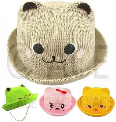 Baby Boys Girls Straw Summer Beach Party Toddler Kids Children Childrens SUN HAT
