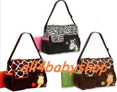 CLEARANCE 3pcs Giraffe Zebra Baby Nappy Changing Bags Large Sizes 3 Designs NEW