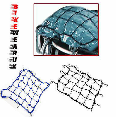 Universal Motorbike High Tensile 4Mm Elasticated Luggage Bungee Cargo Net Black