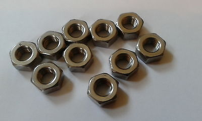1/4 UNF A2 STAINLESS STEEL NUT x 10