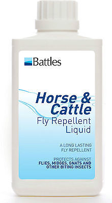 Battles Horse & Cattle Fly Repellent Liquid With Deet - Animal/Horse Care