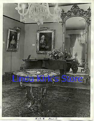 "Akron Art Institute Interior Photograph ""Fir Hill"" Home Burned 1942 B&W"