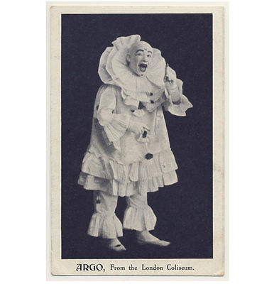 CLOWN - SUPERB COSTUME circus / stage / theater / pantomome PC PHOTO c1910