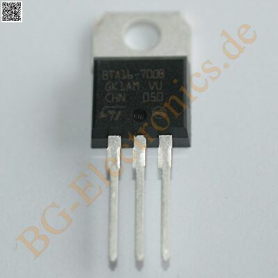 1 x BTA16-700B TRIAC BTA16700B STM TO-220 1pcs