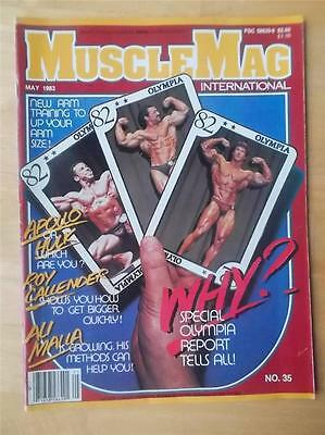 MUSCLEMAG bodybuilding muscle magazine/Mr Olympia 1982 FRANK ZANE 5-83
