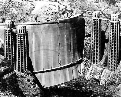 Hoover Dam Rarely Seen Back Side Of The Dam - 8X10 Photo (Aa-596)