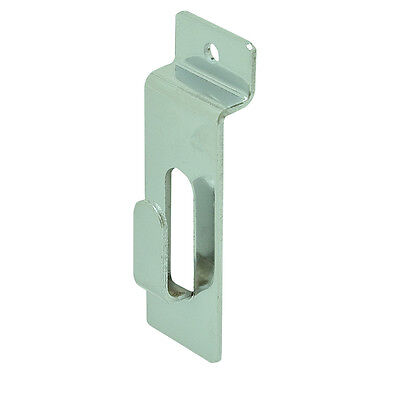 Slatwall Utility Notch Hook - Picture hook - Chrome - 100 Pieces