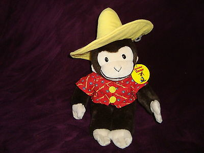 "Curious George in Yellow Hat Plush Best Made Toys Limited  Monkey 13"" tall"