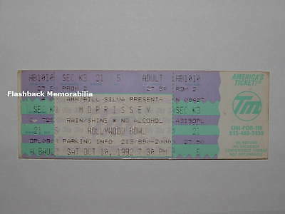 MORRISSEY Unused Concert Ticket 1992 HOLLYWOOD BOWL The Smiths RARE