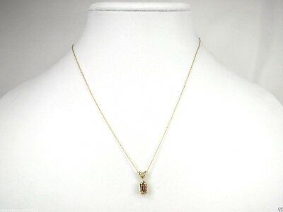N+0053, 0.65ctw Topaz and Diamond Necklace, 14K yellow GOLD (solid) 18in