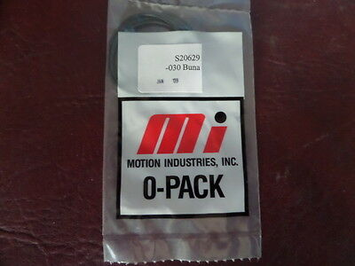 LOT OF 25, Motion Industries, S20629, 030 Buna 0 Pack, O-Rings,