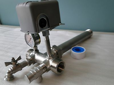 STAINLESS 1x11 UNION TEE KIT WATER PRESSURE TANK PUMP 4060 SQUARED M4 PROTECTION