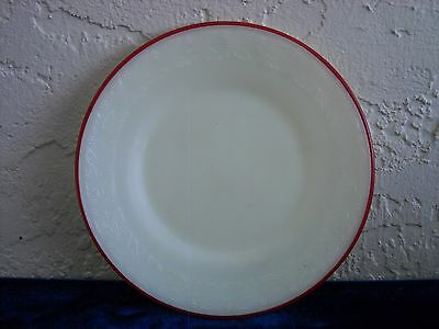 Laurel Children's Toy Plate with Red Trim