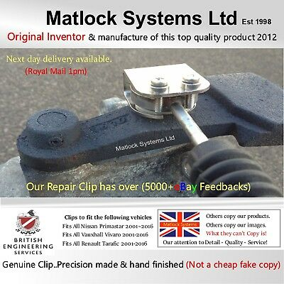 Fits Vauxhall Vivaro Gear Linkage Cable Repair System Clip (DIY-Only 60 Seconds)