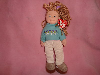 "Teenie Beanie Boppers Ty 2002  Plush Doll COOL CASSIDY 8"" tall w/tags"