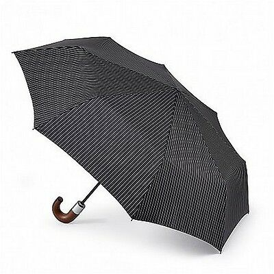 Fulton Chelsea-2 City Stripe Automatic Folding Umbrella Black High Quality