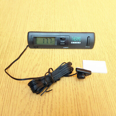 Car Digital Clock Thermometer Voltage Meter Battery Monitor Temperature Display