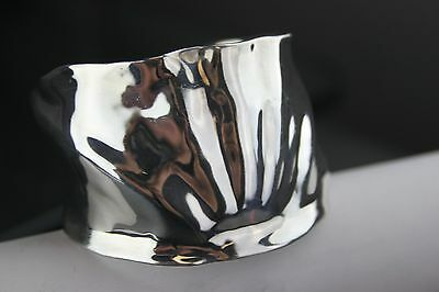 VINTAGE ROBERT LEE MORRIS STUDIO STERLING SILVER LARGE CUFF BRACELET 83.2 GRAMS