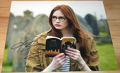 Karen Gillan Signed 11x14 Doctor Who Amy Pond Companion 11th Doctor Exact Proof