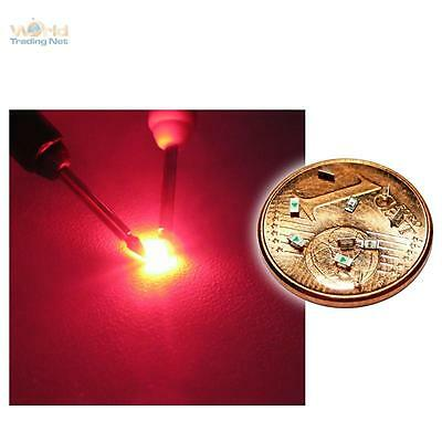50 rote SMD LEDs 0603 - tief rot red rouge rojo rosso rood SMDs Modellbau LED