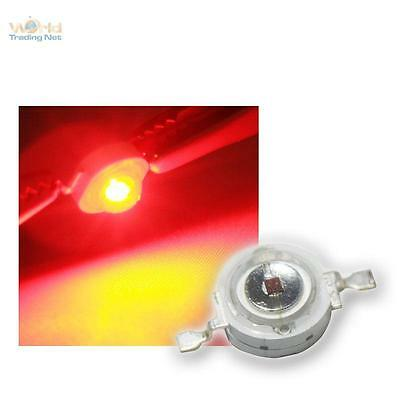 10 x Highpower LEDs 3W Rot, 3 W rote High Power SMD LED 3 Watt 700mA red rouge