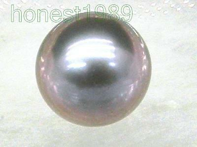9mm violet gray loose aaa++ south sea round half drilled genuine single pearl