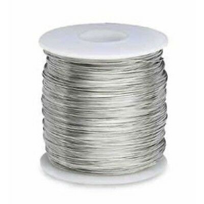 24 Gauge (AWG) Solid Core Bare Tinned Copper Wire - 5 Feet