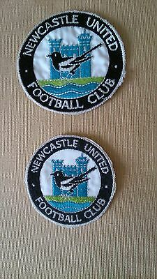 """Vintage Newcastle United 1960-1980 sew on badge patch  3"""" or 3 1/2"""" NOS FREE P&P"""
