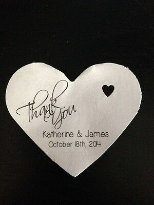 PERSONALIZED Heart Shape Wedding Favor Gift Thank You Tags Buy 2 Get 1