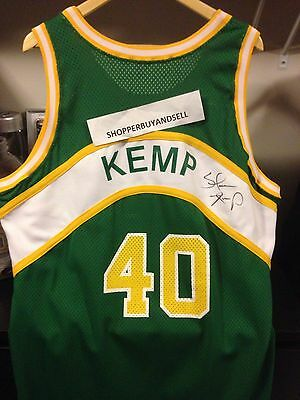 RARE! Shawn Kemp 1994-95 Seattle Supersonics Sonics UDA Auto Pro Cut Jersey