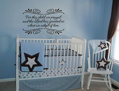 FOR THIS CHILD We Have Prayed - Sign Nursery Wall Decor, 1 Samuel 1 ...