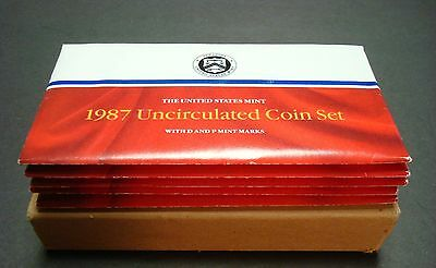 1987-P+D One New Set From Sealed Shipping Box Uncirculated Ten Coin Mint Set