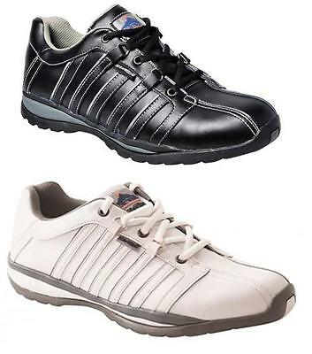 Portwest FW33 Steelite ARX Unisex Leather Safety Trainers Shoes Boots Footwear