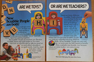 1984 original 2page toy AD Scrabble People playsets Are we teachers or toys?