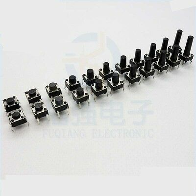 6*6mm 4-pin Quality Momentary Tactile Push Button Switch Miniature/Micro switch