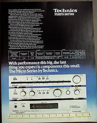 original 1979 vintage Ad Micro Series stereo components by Technics