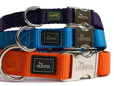 Hunter Nylon Dog Collar With Alu-Strong Clip - Matching Leads Available Also