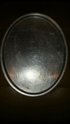 LARGE Wear Ever Aluminum Heavy Duty Oval Serving Tray Made in U.S.A. Vintage