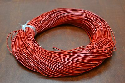 100 Yards Red Leather Beading Cord String 1Mm #F-55I